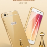 เคสมือถือ Vivo Y55 - เคสขอบโลหะฝากระจกเงา (Pre-Order)