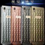 เคส Oppo R7 Lite - เคสโลหะ ลายตารางเคลือบอะคลิลิค Case รุ่น Limited [Pre-Order]