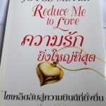 Reduce Me to Love ความรักยิ่งใหญ่ที่สุด