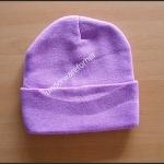 หมวกไหมพรมสีม่วง ไม่มีลาย