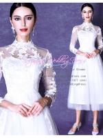 ws5048 ขาย ชุดแต่งงานสั้น แขนยาว แนววินเทจ แบบดารา ราคาถูกกว่าเช่า