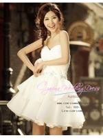 ws40001 ชุดแต่งงานสั้น ชุดถ่ายพรีเวดดิ้ง สวย เก๋ เซ็กซ๊่ สไตล์เกาหลี ขาย ราคาถูก ที่สุดในโลก