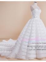 b-0218 ขาย ชุดแต่งงาน เกาะอกแบบลากยาว ดีเทลเก๋ไก๋ เนื้อผ้าหรูมากค่ะ สวยที่สุดในโลก ราคาถูก กว่าเช่าชุดแต่งงาน