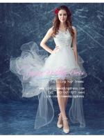 ws5049 ขาย ชุดแต่งงานสั้น สไตล์หน้าสั้นหลังยาว สวย หวาน หรู เลอค่ามากๆ ค่ะ ราคาถูกกว่าเช่า