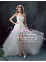 ws5034 ขาย ชุดแต่งงานสั้น สไตล์หน้าสั้นหลังยาว สวย หวาน หรู เลอค่ามากๆ ค่ะ ราคาถูกกว่าเช่า