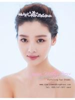 M-0132 ขาย เทียร่าเจ้าสาว ลายดอกไม้ เครื่องประดับเจ้าสาว สุดหรู สวยหวานแบบเจ้าหญิง