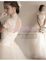 WB40001 ชุดแต่งงาน ราคาถูก แบบมีแขน เว้าหลัง สวย หวาน หรู ที่สุดในโลก
