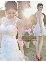 ws5017 ขาย ชุดแต่งงานสั้น ราคาถูก ใส่ถ่ายพรีเวดดิ้ง หรือ after party สวยเก๋ น่ารักมากค่ะ