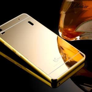 เคส Lenovo A7000/K3 Note - Mirror Metal Case เคสขอบโลหะฝาเคลือบอะคลิลิค[Pre-order]