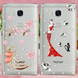 เคส Huawei GR5 - เคสแข็งประดับคริสตัล [Pre-Order]