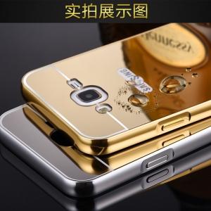 เคสมือถือ Samsung J7 - เคสกรอบโลหะ ฝาหลังกระจกเงาสุดหรู [Pre-Order]