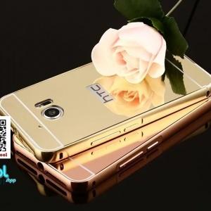 เคสมือถือ HTC M10 -เคสขอบโลหะ ฝาสไลด์กระจกเงาl [Pre-Order]
