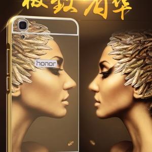 เคสมือถือ Huawei Y6II - เคสขอบโลหะ ฝาหลังสไลด์กระจกเงา [Pre-Order]