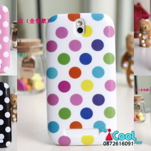 HTC One SV T528t- Polka Dot Jelly Case [Pre-Order]