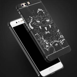 เคสมือถือ Huawei P10 เคสซิลิโคนหนา เกรดพรีเมี่ยม สลักลายมังกร (พรีออเดอร์)
