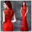 K-0020 พร้อมส่ง ชุดกี่เพ้าสวยๆ หรู สีแดง ราคาถูกกว่าเช่า ชุดยกน้ำชา thumbnail 1