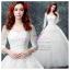 wm5103 ขาย ชุดแต่งงาน เจ้าหญิงปาดไหล่ แขนยาว ใส่ถ่ายพรีเวดดิ้ง สวยหรู ดูดีที่สุดในโลก ราคาถูกกว่าเช่า thumbnail 1