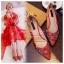 X-007 รองเท้าออกงาน ราคาถูก ใส่ไปงานแต่งงานกลางคืน ไปงานแต่งงานกลางวัน สวย หรู น่ารักมาก สีแดง เหมาะกับยกน้ำชา thumbnail 4