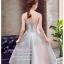 Z-0197 ชุดไปงานแต่งงานน่ารัก แนววินเทจหวานๆ สวย งามสง่า ราคาถูก สีเทา เกาะอก thumbnail 2