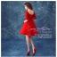 Z-0026 ชุดไปงานแต่งงานน่ารัก มีแขน สุดหรู สวย เก๋น่ารัก ราคาถูก สีแดง ชุดสั้น thumbnail 3