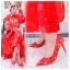 X-002 ขาย รองเท้าออกงาน ราคาถูก ใส่ไปงานแต่งงานกลางคืน ไปงานแต่งงานกลางวัน สวย หรู น่ารักมาก สีแดง เหมาะกับยกน้ำชา thumbnail 5