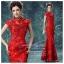 K-0008 พร้อมส่ง ชุดกี่เพ้าสวยๆ หรู สีแดง ราคาถูกกว่าเช่า ชุดยกน้ำชา thumbnail 1