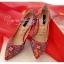 X-007 รองเท้าออกงาน ราคาถูก ใส่ไปงานแต่งงานกลางคืน ไปงานแต่งงานกลางวัน สวย หรู น่ารักมาก สีแดง เหมาะกับยกน้ำชา thumbnail 2