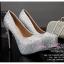 X-001 ขายรองเท้าเจ้าสาว รองเท้าแต่งงาน สวยหรู ดูดีราคาถูกกว่าเช่า สีเงิน thumbnail 1