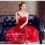 Z-0199 ชุดไปงานแต่งงานน่ารัก แนววินเทจหวานๆ สวย งามสง่า ราคาถูก สีแดง thumbnail 1