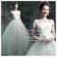 wm5059 ชุดแต่งงานแนวเจ้าหญิง ชุดเจ้าสาวโชว์ไหล่ สวยหวานหรู ราคาถูกกว่าเช่า thumbnail 1