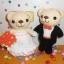 คู่หมีแต่งงาน 6 นิ้ว thumbnail 1