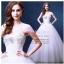 wm5090 ขาย ชุดแต่งงานแขนสั้น คัตติ้งรูปหัวใจ คริสตอล สวย หรู ดูดีแบบเจ้าหญิง ราคาถูกกว่าเช่า thumbnail 1