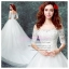 wm5112 ขาย ชุดแต่งงาน เจ้าหญิงเรียบ แบบมีแขน เปิดไหล่ ใส่ถ่ายพรีเวดดิ้ง สวยหรู ดูดีที่สุดในโลก ราคาถูกกว่าเช่า thumbnail 1