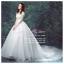 wm5092 ขาย ชุดแต่งงานแขนสั้น กระโปรงลากยาว แบบเจ้าหญิง สวยที่สุดในโลก ราคาถูกกว่าเช่า thumbnail 1