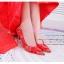X-002 ขาย รองเท้าออกงาน ราคาถูก ใส่ไปงานแต่งงานกลางคืน ไปงานแต่งงานกลางวัน สวย หรู น่ารักมาก สีแดง เหมาะกับยกน้ำชา thumbnail 4