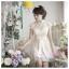 f-0207 ชุดหมั้น สีแชมเปญ เสื้อเป็นลูกไม้สวยหวาน เรียบหรู น่ารักมากค่ะ thumbnail 1