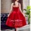 Z-0199 ชุดไปงานแต่งงานน่ารัก แนววินเทจหวานๆ สวย งามสง่า ราคาถูก สีแดง thumbnail 3