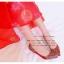 X-007 รองเท้าออกงาน ราคาถูก ใส่ไปงานแต่งงานกลางคืน ไปงานแต่งงานกลางวัน สวย หรู น่ารักมาก สีแดง เหมาะกับยกน้ำชา thumbnail 3