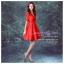 Z-0017 ชุดไปงานแต่งงานน่ารัก แขนมี สุดหรู สวย เก๋น่ารัก ราคาถูก สีแดง ชุดสั้น thumbnail 3